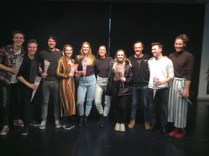 """The second year """"Musical/Show"""" students at UdK, 2021. (Photo: Elena Schaaf-Brandes / UdK)"""
