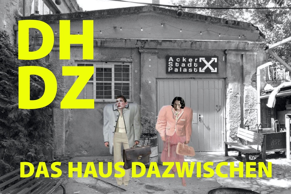 "Poster for the 2021 production of Spoliansky's ""Das Haus dazwischen."""