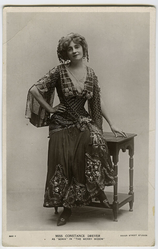 Constance Drever as The Merry Widow. (Photo: Ebay)