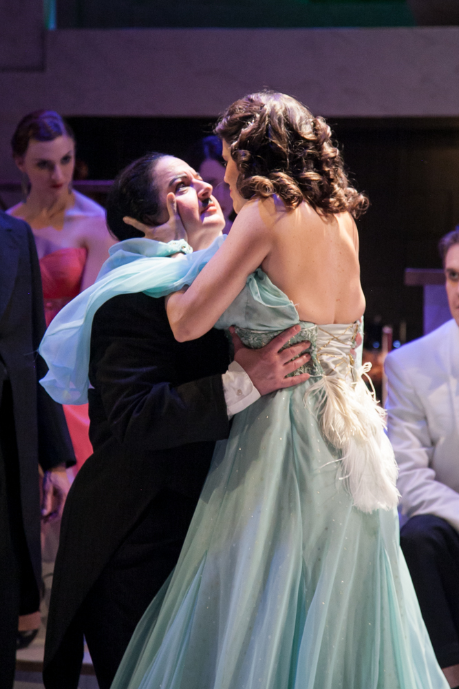 """Alison Kelly and Rose Guccione in """"Ball at the Savoy."""" (Photo: Chicago Folks Operetta)"""