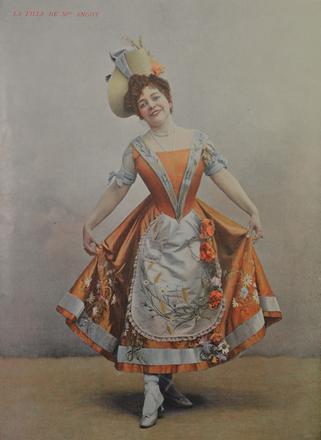 """Juliette Simon-Girard as Clairette in """"La Fille de Madame Angot."""" (Photo: Palazetto Bru Zane / Bibliothèque du conservatoire de Genève)"""