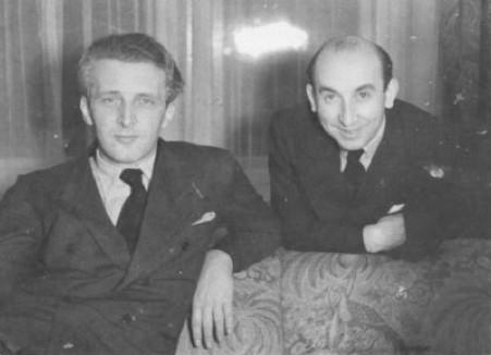 "Marcellus Schiffer (l.) and Mischa Spoliansky. (Photo from ""Marcellus Schiffer: Heute nacht oder nie,"" edited by Viktor Rotthaler / Weidle Verlag)"