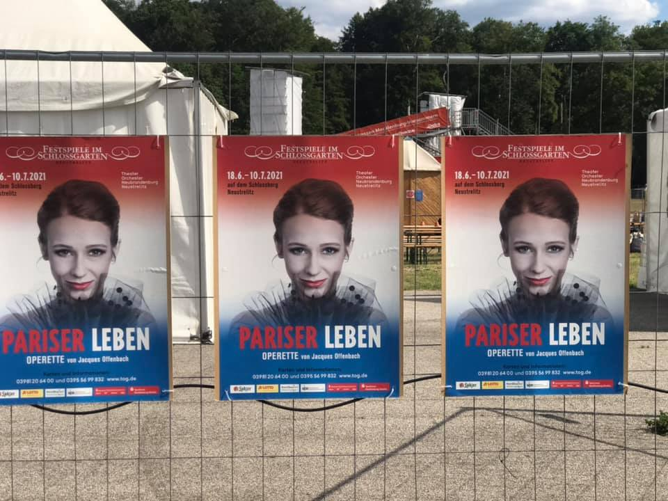 Posters at the entrance to the festival in Neustrelitz. (Photo: Private)