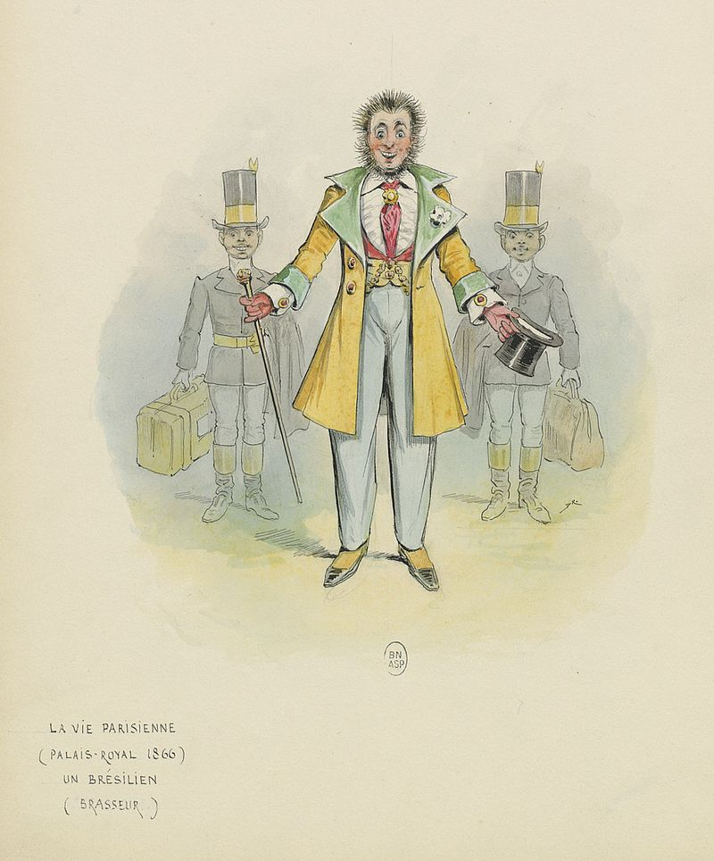 Costume by Draner for the Brazilian arriving in Paris at the end of act 1. (Photo: Bibliothèque nationale de France)