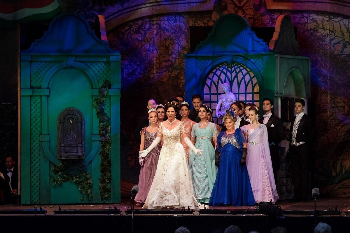 "Scene from ""Sissi, Queen of Hungary,"" 2021. (Photo: Monarchia Operett)"