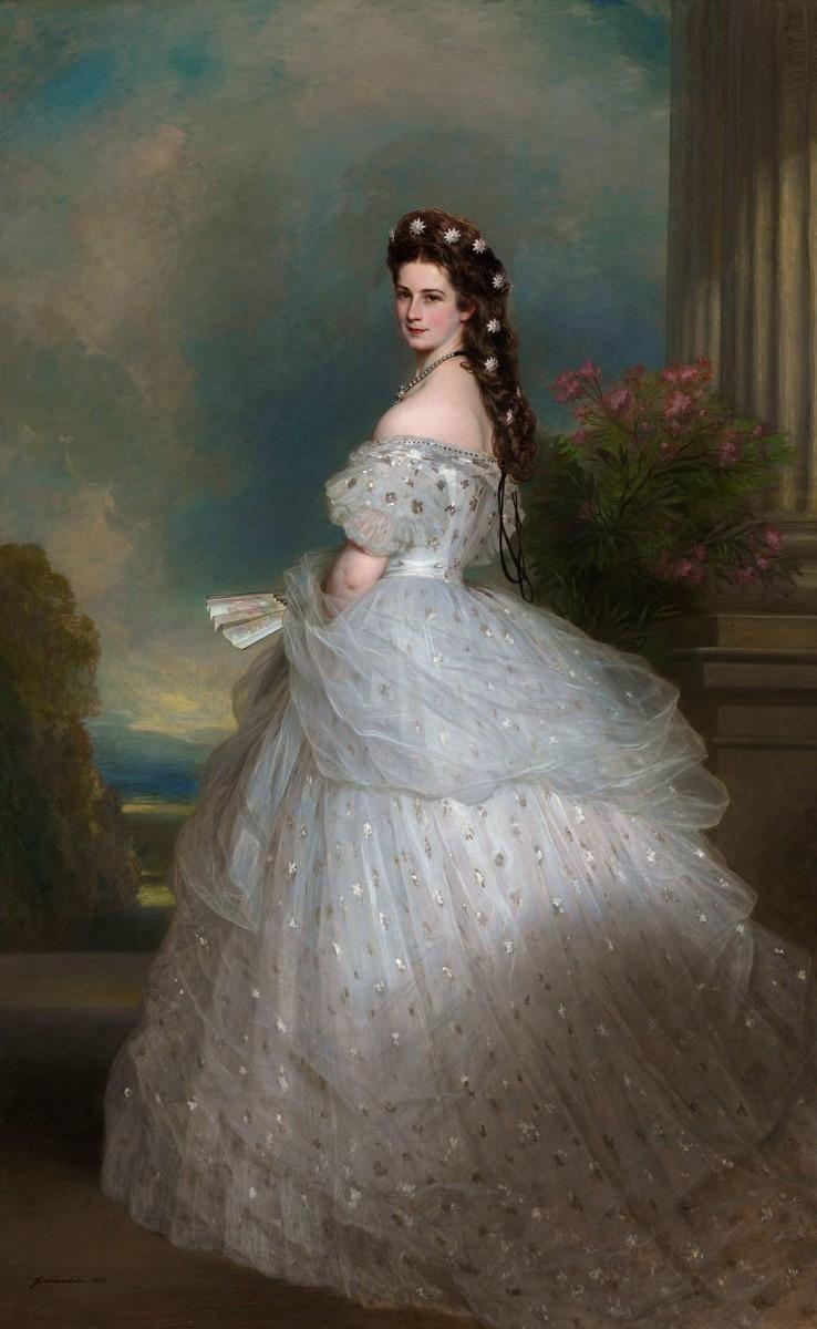 Elisabeth of Austria, as painted by Franz Xaver Winterhalter, 1865.