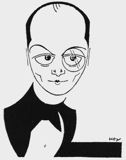 "A 1931 caricature of Paul O'Montis from ""Kölner Stadt-Anzeiger.""  (Photo from Ralf Jörg Raber's biography, Metropol Vgl.)"