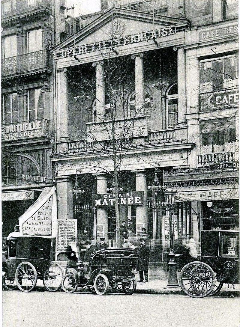 The Théâtre des Variétés in Paris, around 1900. (Photo: Georges Imbert / Wiki Commons)