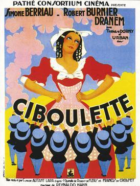 "Poster for the ""Ciboulette"" film version, starring Simone Berriau."
